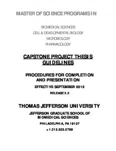 Capstone Project Thesis Guidelines