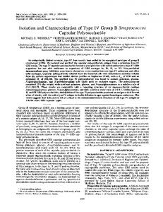 Capsular Polysaccharide - Infection and Immunity - American Society ...