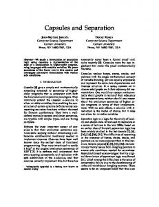 Capsules and Separation - eCommons@Cornell - Cornell University