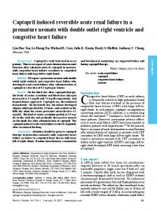 Captopril induced reversible acute renal failure in a ... - Springer Link