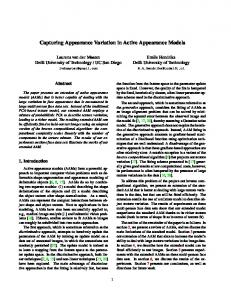 Capturing Appearance Variation in Active Appearance Models