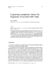 Capturing complexity classes by fragments of ... - Semantic Scholar