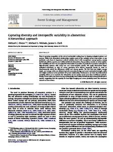 Capturing diversity and interspecific variability in allometries - bu people