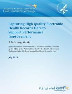 Capturing High Quality Electronic Health Records Data To Support ...