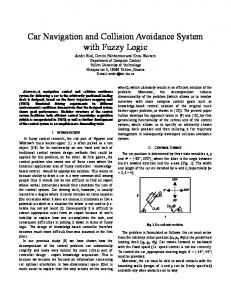 Car Navigation and Collision Avoidance System with Fuzzy Logic