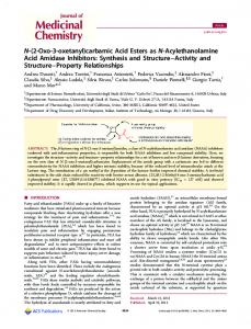 carbamic Acid Esters as N-Acylethanolamine Acid Amidase Inhibitors