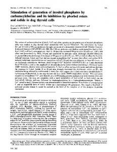 carbamoylcholine and its inhibition by phorbol esters ... - Europe PMC