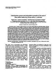 Carbohydrate content and antioxidative potential ... - Semantic Scholar