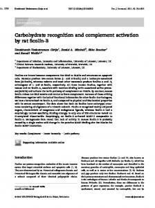 Carbohydrate recognition and complement ... - Wiley Online Library