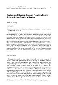 Carbon and Oxygen Isotope Fractionation in ... - Science Direct