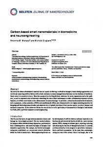 Carbon-based smart nanomaterials in ... - Beilstein Journals