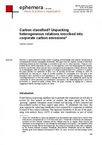 Carbon classified?