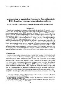 Carbon cycling in mesohaline Chesapeake Bay ... - IngentaConnect