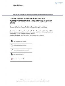 Carbon dioxide emissions from cascade hydropower