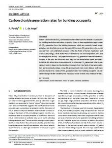 Carbon dioxide generation rates for building ... - Wiley Online Library