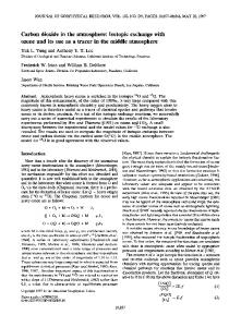 Carbon dioxide in the atmosphere: Isotopic exchange with ... - CiteSeerX