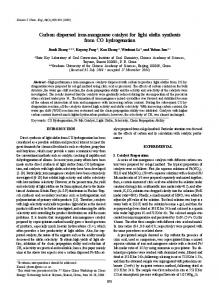 Carbon dispersed iron-manganese catalyst for light ... - Springer Link