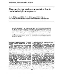 carbon disulphide exposure - Europe PMC