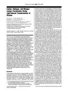Carbon, Hydrogen, and Nitrogen Isotope Fractionation During Light ...