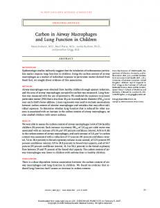 Carbon in Airway Macrophages and Lung Function in ...