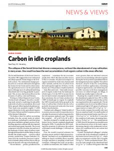 Carbon in idle croplands - India Environment Portal