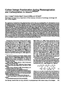 Carbon Isotope Fractionation during ...