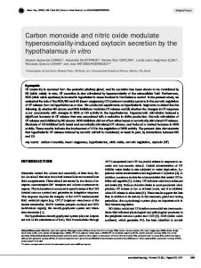 Carbon monoxide and nitric oxide modulate hyperosmolality-induced ...