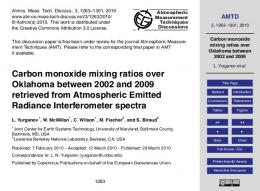 Carbon monoxide mixing ratios over Oklahoma ...