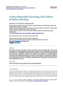 Carbon Monoxide Poisoning - Scientific Research Publishing