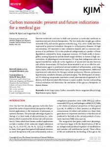 Carbon monoxide - The Korean Journal of Internal Medicine