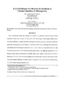 Carbon Nanotubes in Microgravity - NASA Technical Reports Server ...
