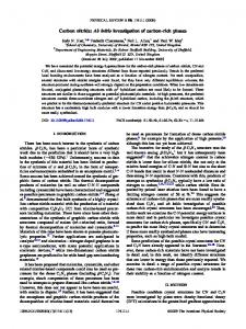 Carbon nitride: Ab initio investigation of carbon ... - University of Bristol