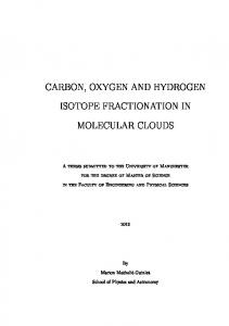 carbon, oxygen and hydrogen isotope fractionation in ...