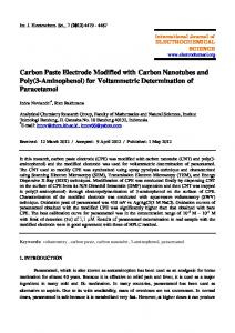 Carbon Paste Electrode Modified with Carbon Nanotubes and Poly(3