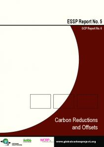 Carbon reductions and offsets - Global Carbon Project