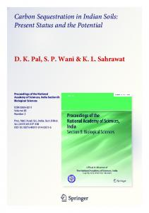 Carbon Sequestration in Indian Soils