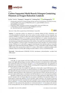 Carbon Supported Multi-Branch Nitrogen-Containing Polymers ... - MDPI