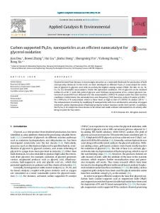 Carbon supported Pt9Sn1 nanoparticles as an