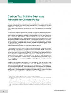 Carbon Tax: Still the Best Way Forward for Climate ... - Intereconomics