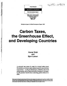Carbon Taxes, the Greenhouse Effect, and Developing Countries