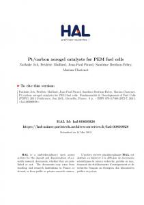 Manufacturing R&D of PEM Fuel Cells - Department of Energy