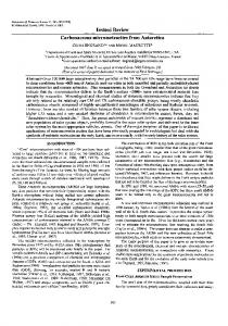 Carbonaceous micrometeorites from Antarctica - Wiley Online Library