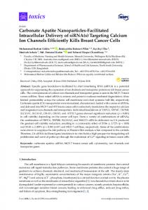 Carbonate Apatite Nanoparticles-Facilitated Intracellular ... - MDPI