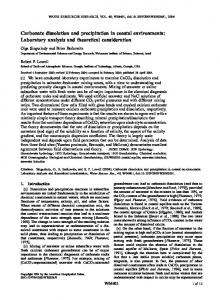 Carbonate dissolution and precipitation in ... - Wiley Online Library
