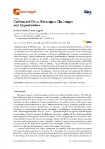 Carbonated Dairy Beverages: Challenges and Opportunities - MDPI