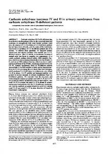 Carbonic anhydrase isozymes IV and II in urinary membranes from ...
