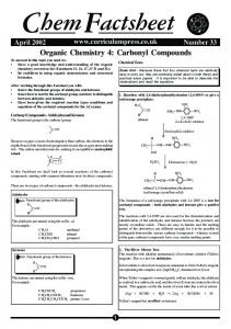 Carbonyl Compounds - MrFisherChemistry