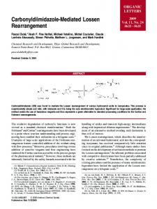 Carbonyldiimidazole-Mediated Lossen ... - ACS Publications
