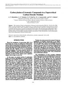 Carboxylation of Aromatic Compounds in a ... - Springer Link