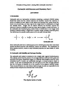 Carboxylic Acid Structure and Chemistry